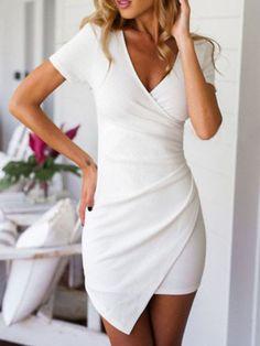 2016 Summer Brand Clothing Irregular White Black Party Dresses Women Bodycon Sexy Femme Luxury Mini Dress Vestidos Plus Size XXL Sexy Dresses, Grad Dresses, Tight Dresses, Cute Dresses, Beautiful Dresses, Short Dresses, Summer Dresses, Summer Outfits, Party Dresses