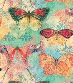 Nuevo-Y-Espectacular-Susan-Winget-Bohemio-Mariposas-Algodon-Tela-por-The-Yard