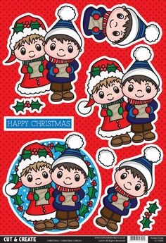 T T Buzzcraft Christmas Cut & Create - Carols Christmas Sheets, 3d Christmas, Christmas Clipart, Christmas Stickers, Happy New Year Cards, Merry Christmas And Happy New Year, Christmas Templates, Christmas Printables, 3d Cards