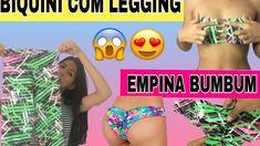 DIY: BIQUINI COM LEGGING #2 / BIQUINI EMPINA BUMBUM COM LEGGING