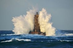 "gros temps en mer d'iroise aujourd'hui....""four"" lighthouse...france, brittany by frederic., via Flickr"