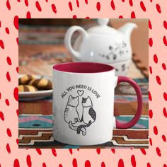 Cat lovers can't go wrong with any of these mugs with cattitude! #coffeecup #mugs #catproducts