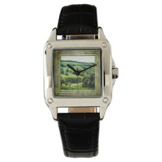Beautiful English Landscape Wrist Watch - photography gifts diy custom unique special