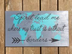 Painted Wood Sign Oceans by Hillsong lyric by ShePaintsTruth