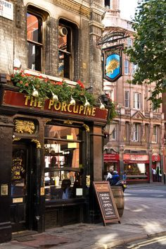 The Porcupine Pub - London, England Britain London Underground, British Pub, British Isles, Tee Shop, Café Bar, Pub Signs, Pub Crawl, London Pubs, England And Scotland