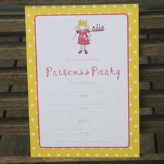 Princess invitations - $12.95 for a pack of 10