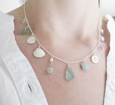 Walberswick necklace with antique seaglass by silverpebble on Etsy, $79.79