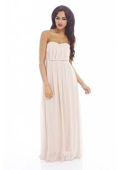 889dc0ffd5 Plain Elegant Chiffon Strapless Dress Formalne Sukienki