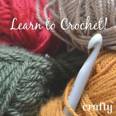 Learn to Crochet - 7 Fun, free crochet patterns for beginners!
