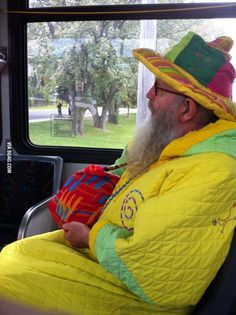 My city's wizard riding the bus