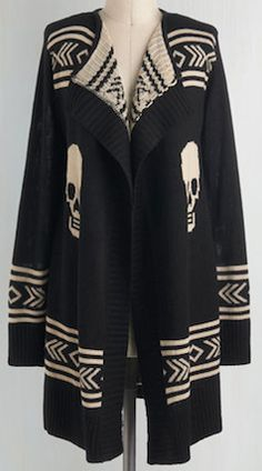 Black and white skull printed sweater