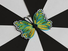 Quilled Butterfly Decor  Magnet Easter Spring by JeAdoreQuilling