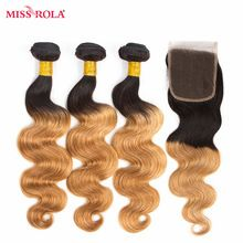Miss Rola Hair Malaysian Body Wave Hair Weaving 3 Bundles  With Closure #T1B/27 Color  100% Human Hair  Non-Remy Hair Extensions     Wholesale Priced Wigs, Extensions, And Bundles!     FREE Shipping Worldwide     Get it here ---> http://humanhairemporium.com/products/miss-rola-hair-malaysian-body-wave-hair-weaving-3-bundles-with-closure-t1b-27-color-100-human-hair-non-remy-hair-extensions/  #black_hairstyles