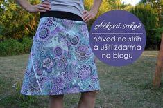 Postup, jak si zkonstruovat střih na jednoduchou Áčkovou sukni do nápletu.
