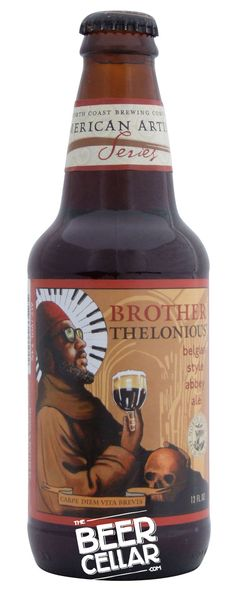P22 London Underground and P22 CEzanne fonts seen on Brother Thelonious Beer, from North Coast Brewing, USA