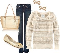 """Winter Holiday Outfit"" by honeybee20 on Polyvore"