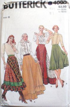 92e5ef73e1 Flared Bohemian Skirt or Maxi Skirt With Optional Ruffle - Prairie Skirt