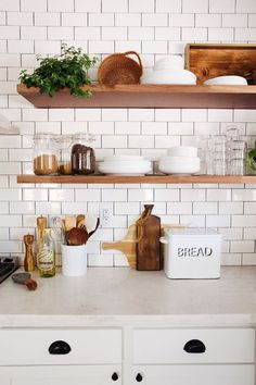 Schon New Darlings   Before And After 1930s Tudor Kitchen Remodel   Minimal  Modern Farmhouse