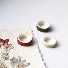 OLGA KABIE Porcelain rings in autumncolors  #olgakabie