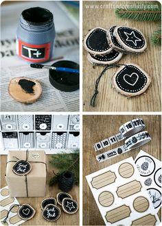 Wood chalkboard tags - by Craft & Creativity