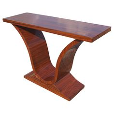 Art Deco Rosewood Console Sofa Table | From a unique collection of antique and modern console tables at http://www.1stdibs.com/furniture/tables/console-tables/
