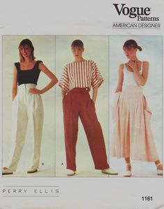 Your place to buy and sell all things handmade Perry Ellis, Vogue Sewing Patterns, Vintage Sewing Patterns, Sewing Clothes, Designer Wear, Pattern Design, My Style, Fashion Flats, Fashion Designers