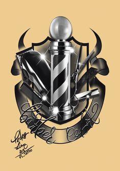 Barber Art Barber Poster, Barber Sign, Beard Barber, Barber Shop Decor, Barbershop Ideas, Barbershop Design, Goodfellas Barber Shop, Hairstylist Tattoos, Tattoo P