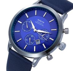 North Leather Strap Water Resistance Wristwatch