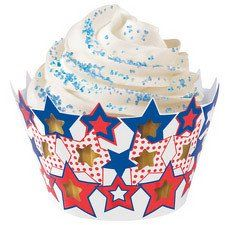 Patriotic Stars Cupcake Wrappers