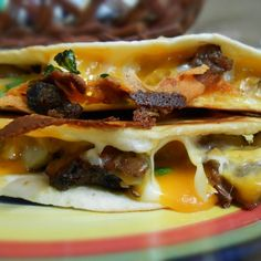 Steak & Potato Quesadilla (use low carb/gluten free tortillas; use gluten free salsa, steak sauce)