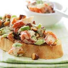 Try this simple crab salad topping on toasted ciabatta or French bread for lunch.