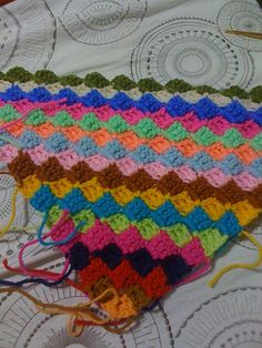 Diagonal Strip Afghan - The amount of knitting worsted used