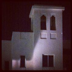 A villa at night, Doha, Qatar