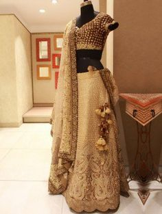 Cream Silk Lehenga Choli With Embroidery Work