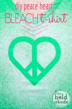 Peace Heart Bleach T-shirt - The Bold Abode