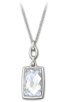 The swarovski parallele mini pendant with exclusive faceted clear swarovski nirvana crystal pendant necklace swarovski jewelry available at benson diamond jewelers westland mi aloadofball Choice Image