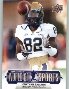 2011 Upper Deck World of Sports #113 Jonathan Baldwin - Pitt Panthers (NFL Football) (RC - Rookie Card) (Baseball Cards) by Upper Deck World ofSPorts. $2.22. 2011 Upper Deck World of Sports #113 Jonathan Baldwin - Pitt Panthers (NFL Football) (RC - Rookie Card) (Baseball Cards)