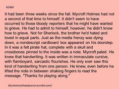 Sherlock Head Canon accepted. Poor Mycroft though. :(