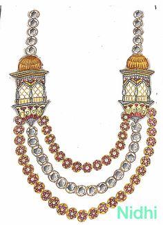 Diamond Jewelry, Gold Jewelry, Unique Jewelry, Bracelet Designs, Necklace Designs, Mughal Jewelry, Jewelry Design Drawing, Face Jewellery, Leopard Pumps