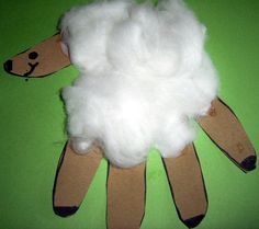 hand lamb finished step Make Spring Handprints Lambs for Easter or Spring : Preschoolers and Kids Craft