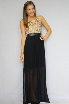 Shimmering Nights Maxi Dress | Girly Girl Boutique
