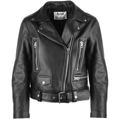 Mock Leather Biker Jacket ($1,325) ❤ liked on Polyvore featuring outerwear, jackets, nero, biker jackets, real leather jackets, zipper jacket, zip jacket and genuine leather jackets