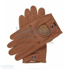 Featuring classic styling driving lambskin gloves, these are among our best driving leather gloves for men. They are hand sewn by the master artisans, and expertly crafted to include vent and knuckle holes and extraordinary details throughout. The snap closure on the back is the final detail that makes these the epitome of a classic mens driving gloves, a perfect choice for every driver throughout every season.  Don't Miss this Special Offer = $52.00 USD (Regular Price = $65.