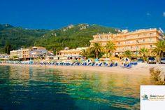 Hotel Potamaki Beach, #Benitses, #Corfu, #Grecia Corfu Greece, Creta, Beach Hotels, Greek Islands, Dolores Park, Tours, Travel, Corfu, Greek Isles