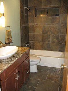 Multicolored Slate Look Tile Bathroomssmall