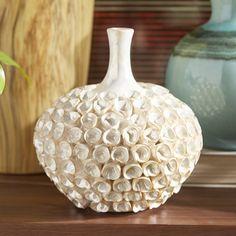 The Bradburn Gallery El Mare Short Vase Pottery Pots, Ceramic Pottery, Porcelain Jewelry, Porcelain Ceramics, Painted Porcelain, Fine Porcelain, Vase Deco, Vase Crafts, Keramik Vase