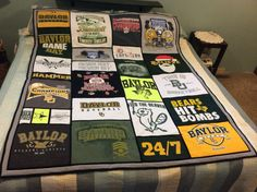Send this Etsy shop 25 #Baylor t-shirts, and they'll send you back a t-shit quilt! A perfect gift for a Bear!