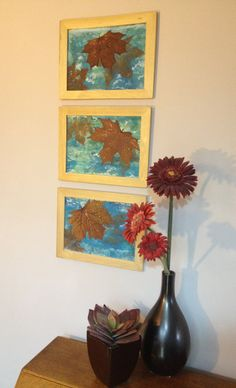 Autumn Leaf Framed Original Wall Art, Autumnal Fall Home Office Decor Perfect Gift for birthday, anniversary to say thank you, fall wedding by HelenMoyesDesigns on Etsy Autumn Home, Home Office Decor, Autumnal, Autumn Leaves, Fall Wedding, Birthday Gifts, Anniversary, Wall Art, The Originals