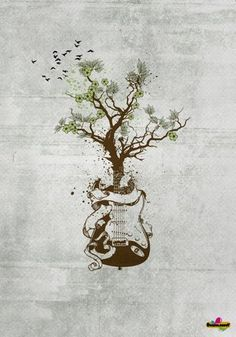 like the idea but acoustic guitar and a different style of tree