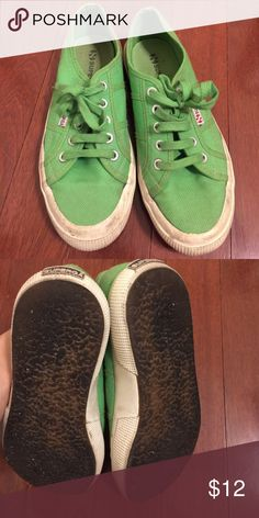 Green súpergas 37 Greatly lovesd and super comfy. Size 37/7 Superga Shoes Sneakers